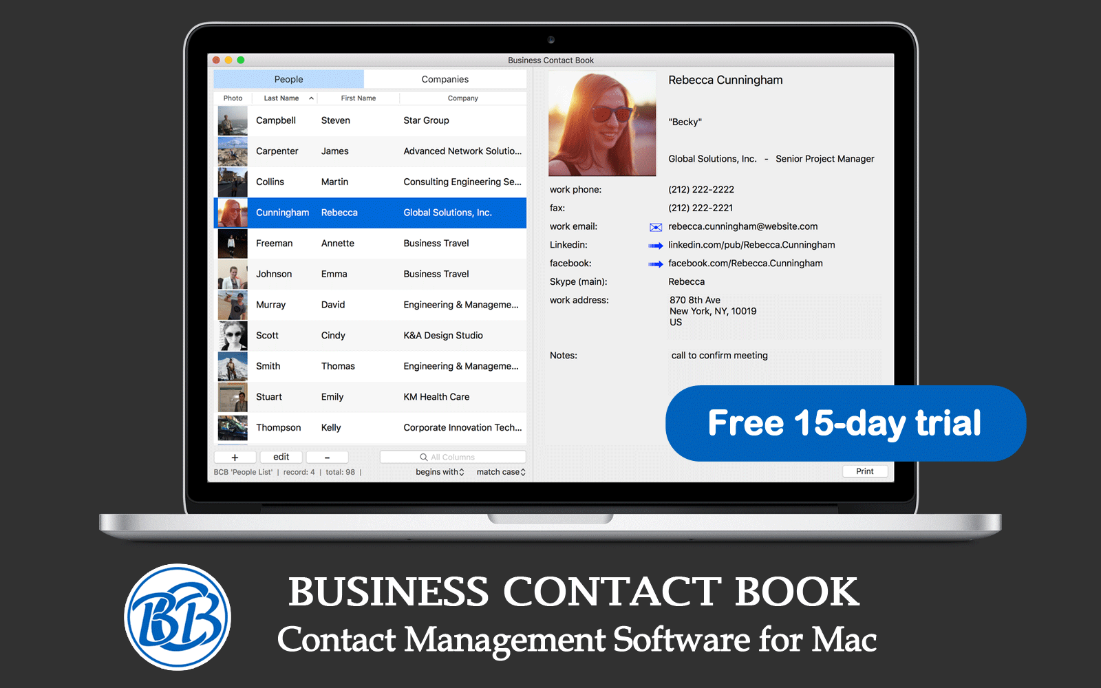 Business Contact Book - Premium Contact Manager